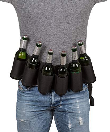 MIK funshopping Dosen-Gürtel Bierflaschengürtel Beer Belt Flaschenhalter für Festival