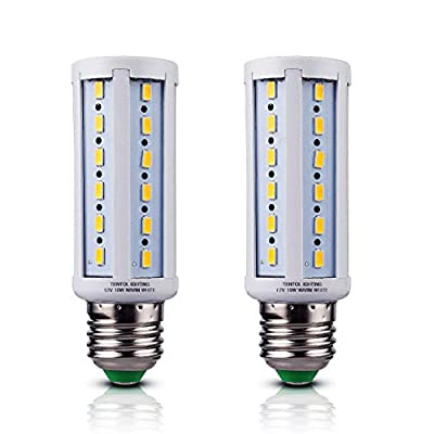 Tento Lighting 12v E26 LED Bulbs 10 Watts Low Voltage White Color DC 12 Volt Edison Base Light Bulbs for Camper Outdoor RV NiMh Lithium Deep Cycle Battery Emergency Work Lamp 12 v