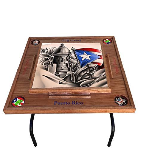latinos r us Puerto Rico Domino Table Símbolos Bóricua