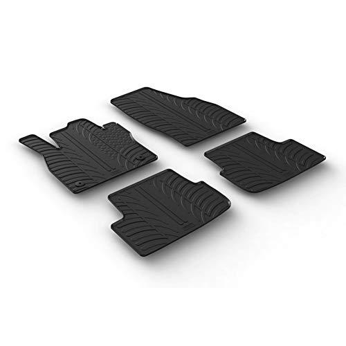 Gledring Set tapis de caoutchouc compatible avec Seat Ibiza 6F 5-portes 6/2017- & Seat Arona 11/2017- (T profil 4-pièces + clips de montage)