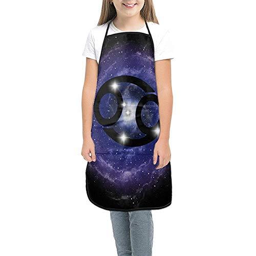 Kinderschürze, Sternzeichen Krebs Sternbild Sterne Kinderkoch Kostüm, Kinderschürze mit Tasche
