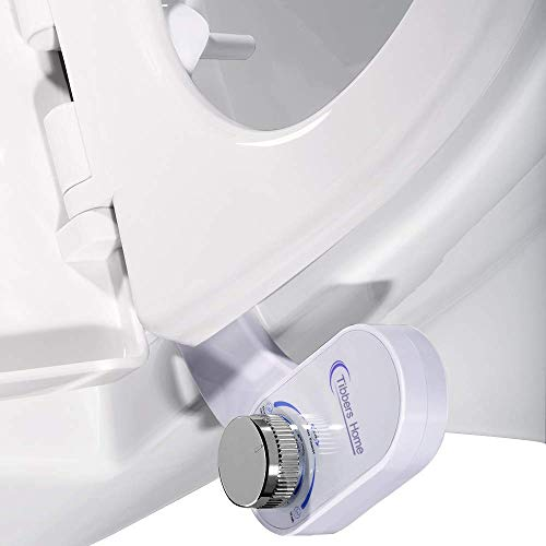 Tibbers Home Bidet, Self-Cleaning and Retractable Nozzle, Fresh Water Spray Non-Electric Mechanical Bidet Toilet Seat Attachment, Reduce Toilet Paper