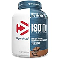 Dymatize ISO100 Hydrolyzed Protein Powder, Fudge Brownie, 5 Pound