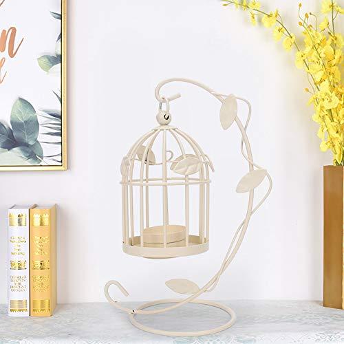 AUNMAS Kandelaar, retro, uithollen van vogelkooi, ijzeren hangen, kandelaar, lantaarn, kandelaar voor wooncultuur