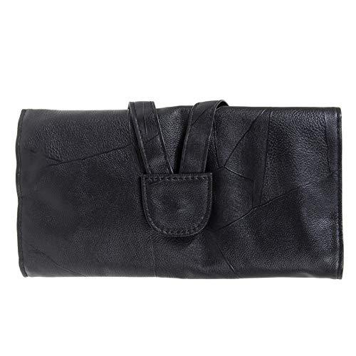 ZRDY 12/18/24 Cosmetic Makeup Brushes Étui Titulaire Roll Bag De Haute Qualité en Faux Cuir Noir Pouch Longueur Standard Brosse (Color : 18pcs)
