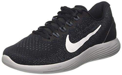 Nike Lunarglide 9, Scarpe Running Uomo, Nero (Black/White/Dk Grey/Wolf Grey), 44.5 EU