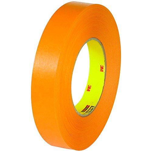 3M 2525 Flatback Tape, 9.5 Mil, 3/4' x 60 yds, Orange, 6/Case, 3M Stock# 7000088506