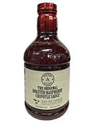 40 oz. bottle Zesty sauce made with ripe raspberries and chipotle peppers All-natural; no added preservatives Smoky, sweet, and spicy; gourmet accompaniment to soft cheese or grilled meat 40 calories per tablespoon and fat free