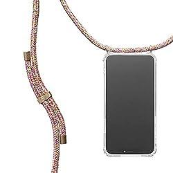 KNOK Handykette Kompatibel mitApple iPhone 7/8- Silikon Hülle mit Band - Handyhülle für Smartphone zum Umhängen - Transparent Case mit Schnur - Schutzhülle mit Kordel in Unicorn