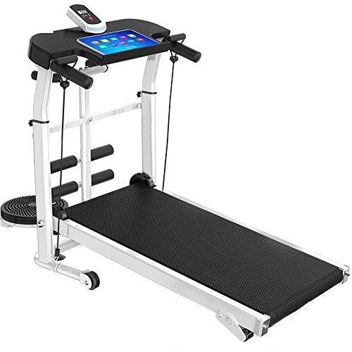YYhkeby Cinta de correr plegable, pantalla LCD y soporte para dispositivos, manillar ajustable con absorción de golpes e inclinación Jialele