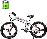 MQJ Ebikes 26'''Electric Mountain Bike, 48V350W Motor de Alta Velocidad / 12.8Ah Batería de Litio de 12.8Ah, Bicicleta de Cola Suave de Suspensión Completa de Doble Disco, Adulto Masculino Y Mujer Fu
