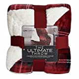 Life comfort The Ultimate Throw Faux Fur Red Plaid