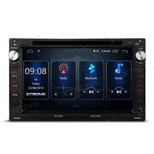 Android 10.0 Doble 2 DIN Radio Estéreo para automóvil Reproductor de DVD Pantalla táctil de 7 pulgadas Navegación GPS DSP integrado Admite RCA completo AutoPlay MirrorLink BT5.0 1080P DVR DAB + para
