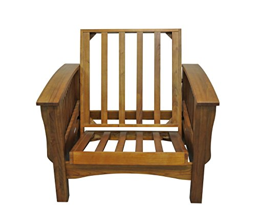 Sale!! Gold Bond Manhattan Cherry Oak Futon Frame Chair, 28, Brown