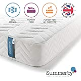 Summerby Sleep' No1. Coil Spring and <span class='highlight'>Memory</span> <span class='highlight'>Foam</span> Hybrid <span class='highlight'>Mattress</span> | Double: 137cm x 190cm