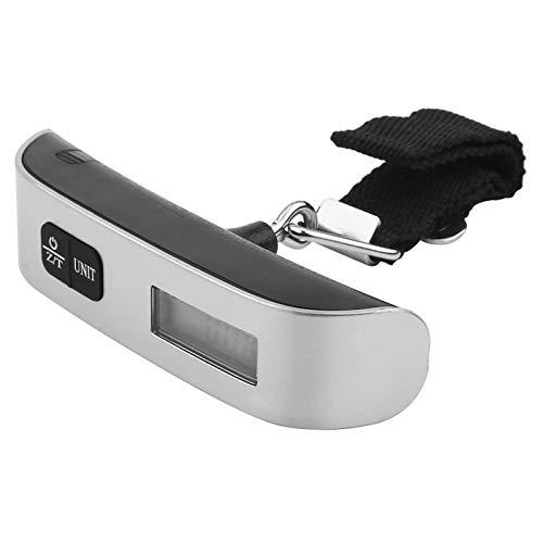 Báscula digital, Básculas digitales, Viaje Portátil Pantalla LCD electrónica Equipaje digital Maleta Bolsa Báscula Nueva plata(Sin luz de fondo)