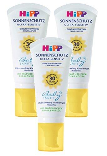 Hipp Babysanft Sonnenschutz LSF 30, 3er Pack (3 x 50ml)