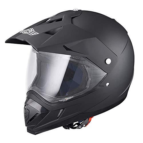 AHR H-VEN30 DOT Full Face Motorcycle Helmet Dirt Bike Motocross PC Visor Lightweight ABS Motorbike...