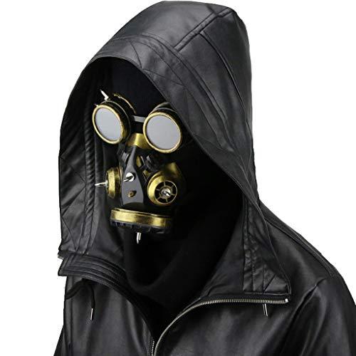 WANG XIN Halloween Vapor Retro Parabrisas Gas máscara...