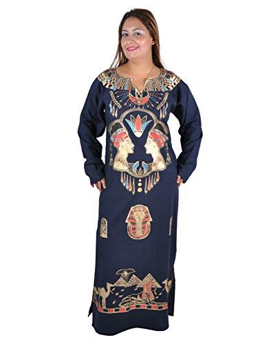 Egypt Bazar - Vestido - para mujer azul azul oscuro