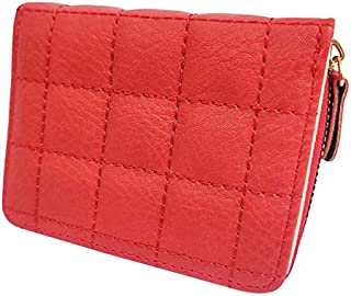 AlexVyan Small Women's Purse Wallet Female Hand Clutch Women/ Ladies/ Girls Wallets Card Holder 3 Pocket (Red Check)