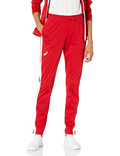 ASICS Team Tricot Warm Up Pant, Team Red/Team White, Large