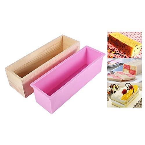 Canyita rechthoekige zeep silicone liner zeepvorm houten kist DIY maken gereedschap bakken cake broodvorm