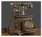 TAIJU-CHENCHEN Antiguo Moda Sólida Teléfono Antiguo Teléfono Hogar Rotativo Teléfono fijo, Teléfono con cable Antiguo Floral Teléfono Teléfono Europeo Teléfono de escritorio for decoración Phones de m