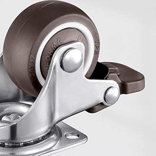 41rcwfcaAdL. SL500  - 4 ruedas para muebles de 25 mm con tornillos, frenos de goma, pequeñas ruedas giratorias para muebles, ruedas de carga pesada para muebles de palés (25 mm)