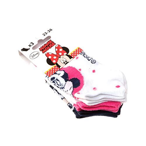 Socke unsichtbare - 3 pack - ohne Frotte - Mit Schleife - Coton - Multicolore - Disney - 27/30