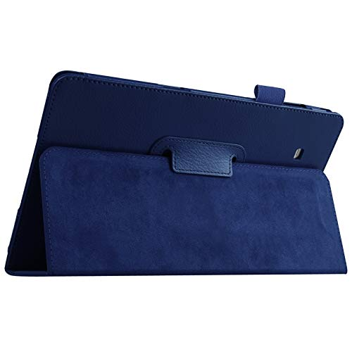 ZHENGNING Protective Case Texture Horizontal Flip Solid Color Leather Case with Holder for Galaxy Tab E 9.6 / T560 / T561(Black) Tablet Slim Cover Shell (Color : Dark Blue)