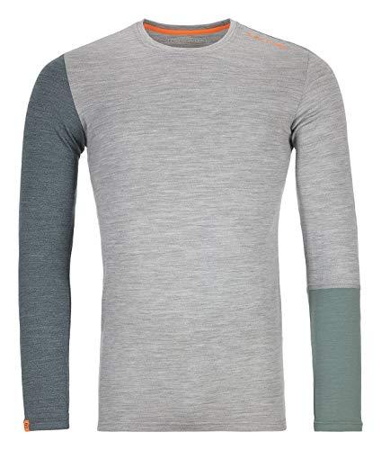Ortovox 185 Rock'n'Wool T-Shirt à Manches Longues pour Homme Gris Taille L