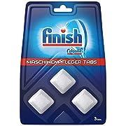 Finish Maschinenpfleger Tabs – Spülmaschinentabs gegen Schmutz & Fett im Inneren der Spülmaschine – 1 x 3 Geschirrspülreiniger Tabs