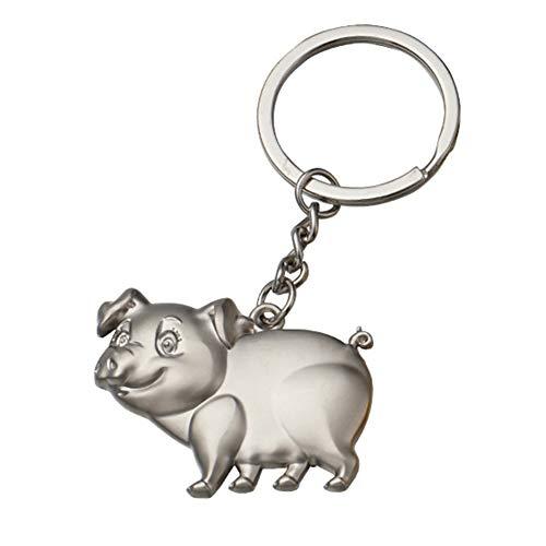 WDOIT Sternzeichen Schwein Schlüsselanhänger Taschenanhänger Legierung Keychain Handy Bagjewelry Auto Anhänger Rucksack Deko, Männer und Frauen Kleine Geschenke