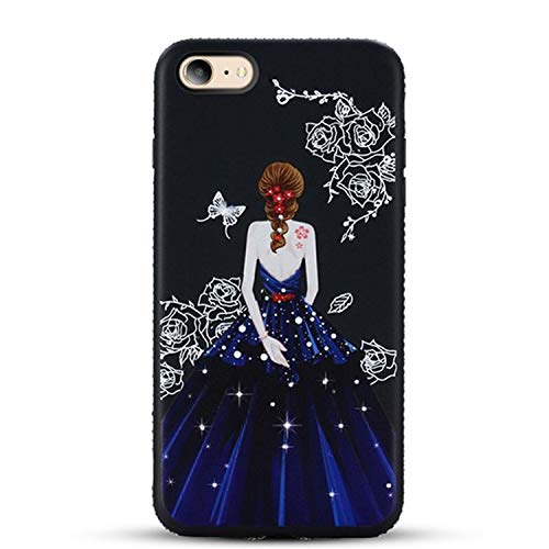Diamond Case For Iphone 7 8 6 6S Plus 5 5S SE Glitter Cover For Iphone 6 6S 7 8 Plus XS X Coque Fondas Black-blue skirt for iphone 8