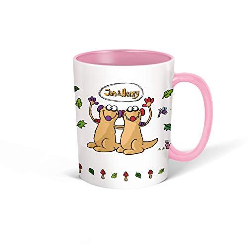 Trötsch Jan und Henry Tasse rosa: Kaffeetasse Teetasse Geschenkidee Geschenk Kindertasse (Jan & Henry)