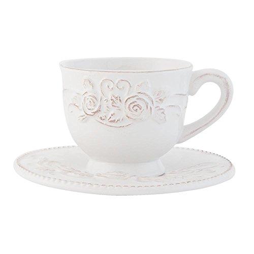 Clayre & Eef TCRKS Kaffeetasse mit Untertasse Ø 15 * 9 cm / 0,15 L