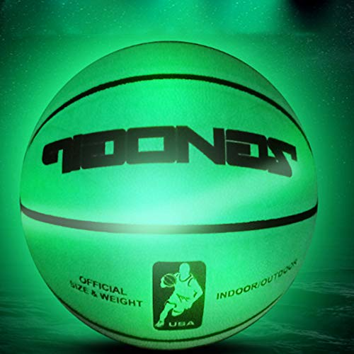 Affordable QQ GO Glowing Basketball,Kids Reflective Basketball NO.7, Rainbow Light Luminous Basketba...