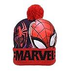 Marvel Jungen Spiderman Avengers Beanie-Mütze, Schal, Handschuhe Gr. 4-8 Jahre, Red Spiderman Beanie