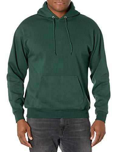 Hanes mens Pullover Ecosmart Fleece Hooded Sweatshirt,Deep Forest,Medium