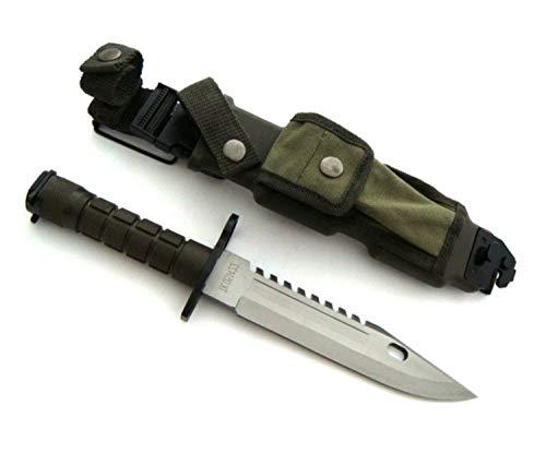 KOSxBO® U.S. Army M-9 Typ-3B - Messer 39 cm - Multipurpose M9 Militär Bajonett mit extrem Sägerücken - taktisches Kampfmesser - Jagdmesser - Outdoor - Freizeitmesser - USA Knife