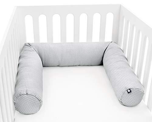 Tour de lit Julius Zöllner - Pour lit bébé et enfant - Environ 180 cm, fabriqué en Allemagne, gaufré piqué