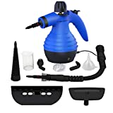 Comforday Multi-Purpose Handheld Steam Cleaner 9-Piece Accessories for Multi-Surface Stain Removal, Carpets, Curtains, Counters, Car Seats & Much More (Blue)