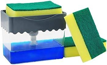 AmazeFan Soap Pump Dispenser and Sponge Holder