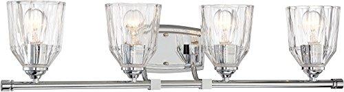 Minka Lavery Wall Light Fixtures 3384-77 D'Or Wall Bath Vanity Lighting, 4-Light 400 Watts, Chrome