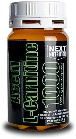 Acetil Carnitina Purissima 1000mg per Compressa Brucia Grassi Energetico (Acetil L- Carnitina 1000mg 1 Box 60 Compresse)