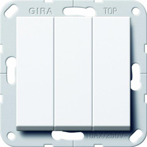 Gira 284403 Taster 3-Fach Schließer 1-polig System 55, reinweiß