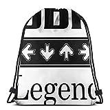 Drawstring Backpack,DDR Legende,Drawstring Bag Leichtgewicht Kordelzug Rucksack Portable Tunnelzug Gymsack Für Kinder Jugendliche Erwachsene