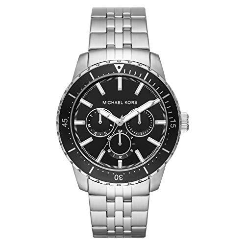 Michael Kors - Cunningham Chronograph Uhr mit silberfarbenem Edelstahl für Herren MK7156