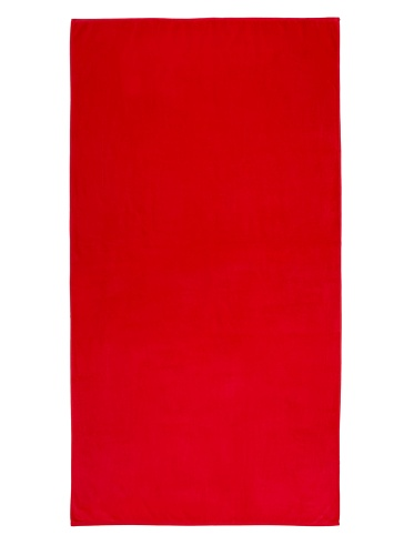 Bahia Beach Towels Solid Velour Beach Towel, Red, 40